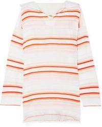 lemlem - Fiesta Frayed Striped Cotton-blend Gauze Hoodie - Lyst