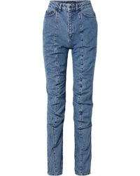 Y. Project - Paneled High-rise Straight-leg Jeans - Lyst