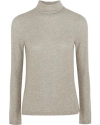 Madewell - Metallic Ribbed-knit Turtleneck Jumper - Lyst