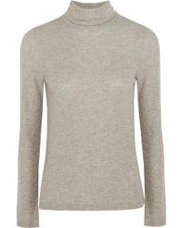 Madewell - Metallic Ribbed-knit Turtleneck Jumper - Lyst