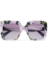 Dolce & Gabbana | Square-frame Printed Acetate Sunglasses | Lyst