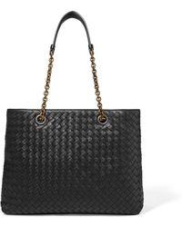 Bottega Veneta - Small Intrecciato Leather Tote - Lyst