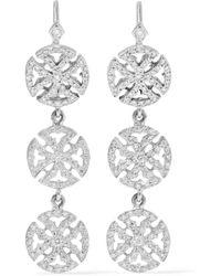 Loree Rodkin - 18-karat White Gold Diamond Earrings - Lyst