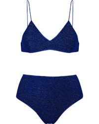 Oséree Bikini En Lurex Stretch Lumière - Bleu royal Prédédouanement Ordre parfait Les Sites De Vente soVCshrE