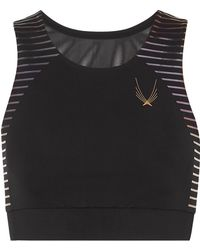 Lucas Hugh - Odyssey Mesh-paneled Stretch Sports Bra - Lyst