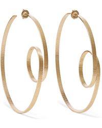Annie Costello Brown - Circle Scroll Gold Vermeil Hoop Earrings - Lyst