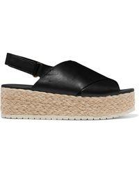 f62c5441d0e Hot Vince - Jesson Leather Espadrille Platform Sandals - Lyst