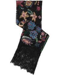 Valentino - Embellished Appliquéd Silk-lace Scarf - Lyst