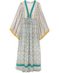 Talitha - Maghreb Printed Silk-georgette Maxi Dress - Lyst