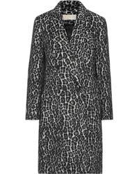MICHAEL Michael Kors - Double-breasted Leopard-print Bouclé Coat - Lyst