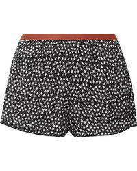 Love Stories - Edie Printed Satin Pajama Shorts - Lyst