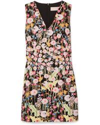 Peter Pilotto - Floral-print Cady Mini Dress - Lyst