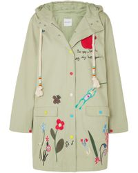 Mira Mikati - Embroidered Cotton-twill Jacket - Lyst