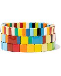 Roxanne Assoulin - Set De Trois Bracelets En Émail Rainbow Brite - Lyst