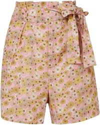 Lisa Marie Fernandez - Floral-print Linen Shorts - Lyst