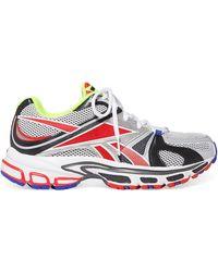 3aae396ae4d Vetements - Grey And Red Reebok Edition Spike Runner 200 Sneakers - Lyst