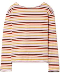 M.i.h Jeans - Striped Cotton-jersey Top - Lyst