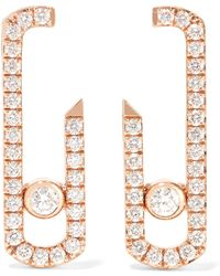 Messika - Move Addiction 18-karat Rose Gold Diamond Earrings Rose Gold One Size - Lyst