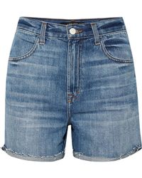 J Brand - Joan Distressed Denim Shorts - Lyst