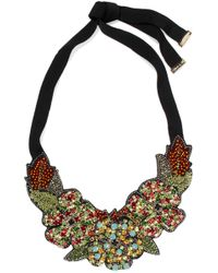 Etro - Silver-tone, Crystal, Bead And Felt Necklace - Lyst
