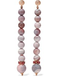 Carolina Bucci - Recharmed 18-karat Rose Gold, Sunset Stone And Ruby Earrings - Lyst