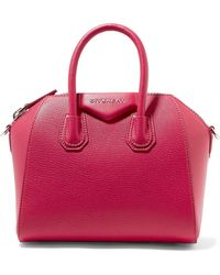 Givenchy - Antigona Mini Textured-leather Shoulder Bag - Lyst