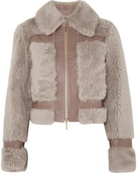 Zimmermann - Fleeting Panelled Leather And Shearling Jacket - Lyst