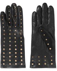 Agnelle - Studded Leather Gloves - Lyst