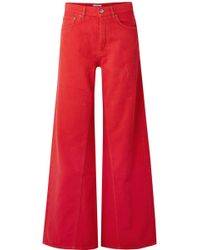 Ganni - High-rise Wide-leg Jeans - Lyst