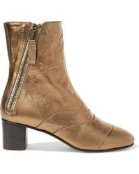 Chloé | Lexie Metallic Leather Ankle Boots | Lyst