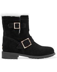 Jimmy Choo - Youth Shearling-lined Suede Ankle Boots - Lyst
