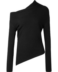 TOME   One-shoulder Ribbed Merino Wool Sweater   Lyst
