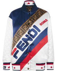 Fendi - Mania Silk Bomber Jacket - Lyst