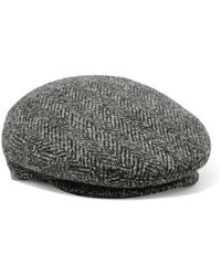 Isabel Marant - Gabor Herringbone Wool-tweed Cap - Lyst
