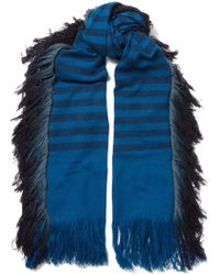 Melt - Bhalay Fringed Striped Camel And Yak-blend Scarf - Lyst