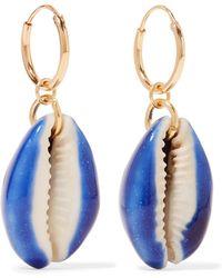 Aurelie Bidermann - Merco Gold-plated Shell Earrings - Lyst