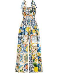 Dolce & Gabbana - Majolica Printed Jumpsuit - Lyst