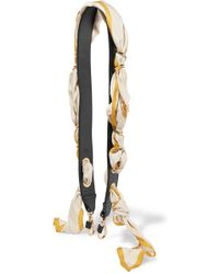 Chloé - Leather And Printed Silk-satin Bag Strap - Lyst