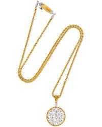 Buccellati - Ramage 18-karat White Gold Diamond Necklace - Lyst