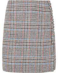 Adam Lippes - Wool-tweed Wrap Mini Skirt - Lyst