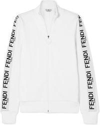 Fendi - Wonders Cotton-blend Jersey Track Jacket - Lyst