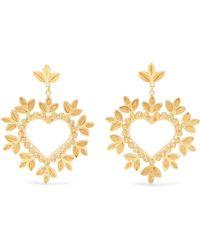 Mallarino - Secret Heart Gold-tone Earrings Gold One Size - Lyst