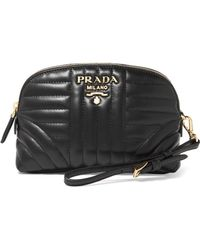 Prada - Quilted Leather Cosmetics Case - Lyst