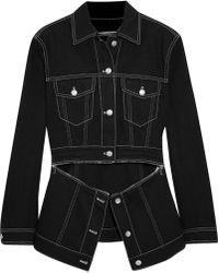 Alexander McQueen - Zip-detailed Denim Jacket - Lyst