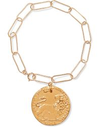 Alighieri - Il Leone Gold-plated Bracelet - Lyst