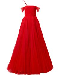 Jason Wu - Ruched Point D'esprit Tulle Gown - Lyst