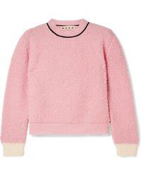 Marni - Wool-blend Fleece Sweater - Lyst