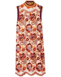 Burberry - Crocheted Lace Mini Dress - Lyst