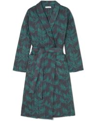 Desmond & Dempsey - Byron Printed Quilted Cotton Robe - Lyst