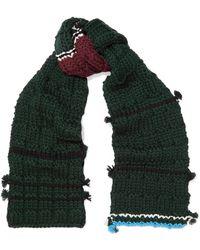 Prada | Tasseled Wool Scarf | Lyst